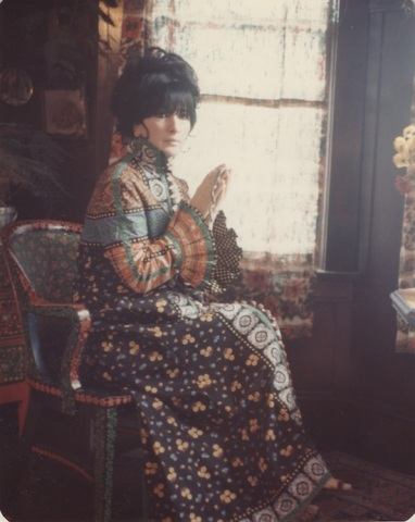 Jamila Salimpour , wearing a dress by Masha Archer, photographed by Charles Homer Archer