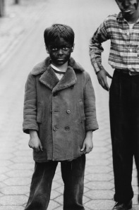 DIANE ARBUS Kid in black-face with friend, N.Y.C. 1957 © The Estate of Diane Arbus