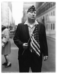 DIANE ARBUS Veteran with a flag, N.Y.C. 1971 © The Estate of Diane Arbus